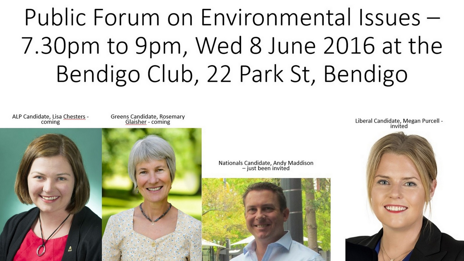 Pre-election Public Forum on Environmental Issues